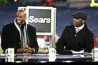 December 2008: Pictures from the NFL Total Access set in Various cities for the 2008 NFL Network Season. Deion Sanders and Marshall Faulk.