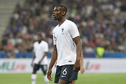 June 1, 2018 - Paris, Ile-de-France, France - Paul Pogba (France) during the friendly football match between France and Italy at Allianz Riviera stadium on June 01, 2018 in Nice, France..France won 3-1 over Italy. (Credit Image: © Massimiliano Ferraro/NurPhoto via ZUMA Press)