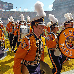 October 8, 2011; Baton Rouge, LA, USA;  The LSU Tigers tigerband performs prior to kickoff of a game against the Florida Gators at Tiger Stadium.  Mandatory Credit: Derick E. Hingle-US PRESSWIRE / © Derick E. Hingle 2011