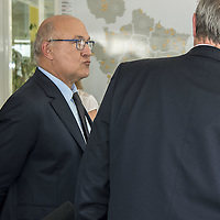 French Finance Minister Michel Sapin In Visit In Feyzin