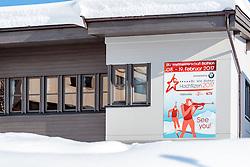 18.01.2017, Biathlonarena, Hochilzen, AUT, IBU Weltmeisterschaft Biathlon, Hochfilzen, Vorberichte, im Bild Hochfilzen 2017 Logo // Preview for the Upcoming IBU Biathlon World Championships 2017at the Biathlonarena, Hochfilzen, Austria on 2017/01/02. EXPA Pictures © 2017, PhotoCredit: EXPA/ JFK