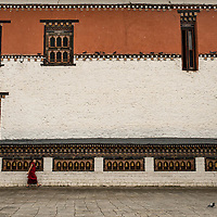 Monk at Thimpu Dzong (monestary)<br />