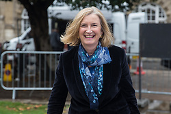 "London, UK. 25 September, 2019. Sarah Wollaston, Liberal Democrat MP for Totnes, is interviewed on College Green on the day after the Supreme Court ruled that the Prime Minister's decision to suspend parliament was ""unlawful, void and of no effect"". Credit: Mark Kerrison/Alamy Live News"