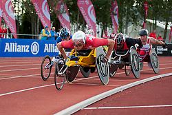 HUG Marcel, BALDE Alhassane, HAMERLAK Tomasz, 2014 IPC European Athletics Championships, Swansea, Wales, United Kingdom