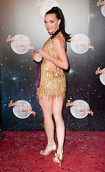 Victoria Pendleton joins fellow Contestants as they line up for this years Strictly Come Dancing television show on BBC. Contestants will include Olympic medalist Victoria Pendleton, Tuesday September 11, 2012.Photo Andrew Parsons/i-Images