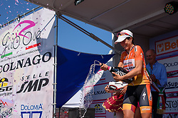Stage winner Evelyn Stevens (Boels Dolmans) at Giro Rosa 2016 - Stage 6. A 118.6 km road race from Andora to Alassio, Italy on July 7th 2016.