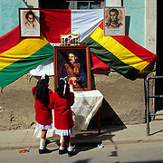 Flag Homage Day. Potosí.Bolivia.