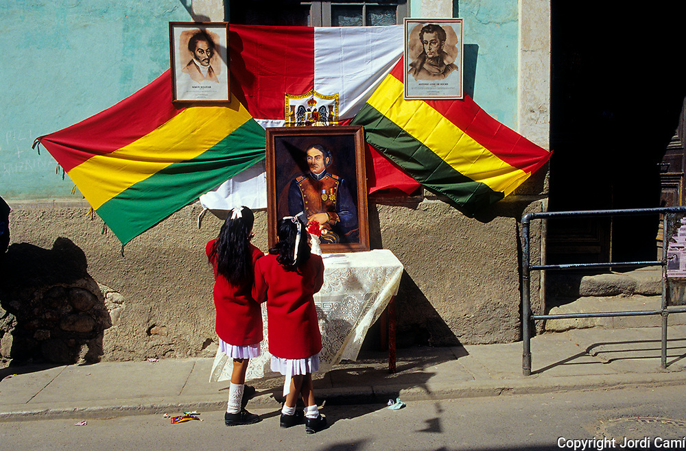 Flag Homage Day. Potosí.Bolivia.