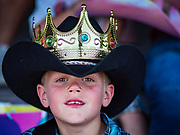 26 JUNE 2019 - CENTRAL CITY, IOWA: LANE ZUMBACH, 7, was crowned the Little Mister at the Linn County Fair. Summer is county fair season in Iowa. Most of Iowa's 99 counties host their county fairs before the Iowa State Fair, August 8-18 this year. The Linn County Fair runs June 26 - 30. The first county fair in Linn County was in 1855. The fair provides opportunities for 4-H members, FFA members and the youth of Linn County to showcase their accomplishments and talents and provide activities, entertainment and learning opportunities to the diverse citizens of Linn County and guests.       PHOTO BY JACK KURTZ