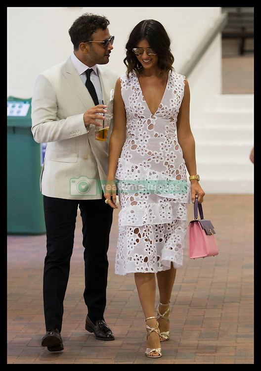 July 14, 2017 - London, London, United Kingdom - Image licensed to i-Images Picture Agency. 14/07/2017. London, United Kingdom. Lucy Mecklenburgh and Ryan Thomas on Men's Semi-final day at the Wimbledon Tennis Championships in London.  Picture by Stephen Lock / i-Images (Credit Image: © Stephen Lock/i-Images via ZUMA Press)