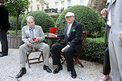 Left to right, artists LUCIAN FREUD and DAVID HOCKNEY at the Tatler Summer Party, The Hempel Hotel, 31-35 Craven Hill Gardens, London W2 on 25th June 2008.<br /><br />NON EXCLUSIVE - WORLD RIGHTS