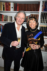 CHARLES ANSON The Queen's former press secretary and LADY MEYER at a birthday party for Lady Meyer hosted by Richard & Basia Briggs at their home 25 Sloane Gardens, London SW1 on 28th January 2009.
