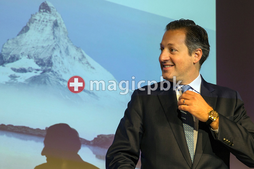 Boris F.J. Collardi, Chief Executive Officer (CEO), looks on, during a press conference on the fourth quarter and full-year results 2014 of Julius Baer Group Ltd. held at the Hotel Widder in Zuerich, Switzerland, on Monday, 2 February 2015. (Photo by Patrick B. Kraemer / MAGICPBK)