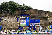 Ray Wilkins tribute wall at the Premier League match between Chelsea and West Ham United at Stamford Bridge, London, England on 8 April 2018. Picture by Sebastian Frej.