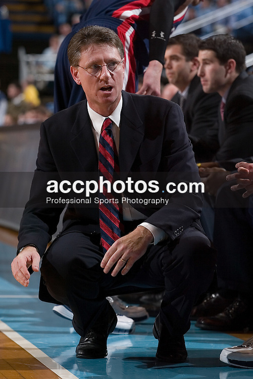 03 January 2007: Pennsylvania head coach Glen Miller during a North Carolina Tar Heels 102-64 win over the Pennsylvania Quakers at the Dean Smith Center in Chapel Hill, NC.<br />