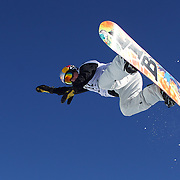 Scotty James, Australia, in action during the Men's Half Pipe competition at the Burton New Zealand Open 2011 held at Cardrona Alpine Resort, Wanaka, New Zealand, 10th August 2011. Photo Tim Clayton