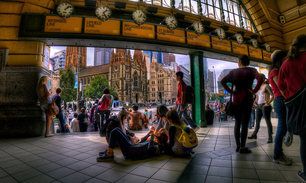 Flinders Street Station, inside under the clocks. Melbourne in HDR (High Dynamic Range), for The Age iPad App. Pic By Craig Sillitoe CSZ/The Sunday Age 29/5/2011 melbourne photographers, commercial photographers, industrial photographers, corporate photographer, architectural photographers, This photograph can be used for non commercial uses with attribution. Credit: Craig Sillitoe Photography / http://www.csillitoe.com<br />
