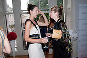 MARGOT STILLEY; AMBER LEBON, Elizabeth Arden.-100th anniversary party. 33 Fitzroy Square, London W1, 29 June 2010. DO NOT ARCHIVE-© Copyright Photograph by Dafydd Jones. 248 Clapham Rd. London SW9 0PZ. Tel 0207 820 0771. www.dafjones.com.