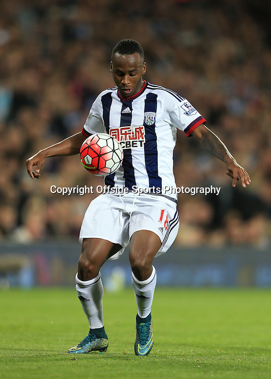 28th September 2015 - Barclays Premier League - West Bromwich Albion v Everton - Saido Berahino of West Brom - Photo: Simon Stacpoole / Offside.