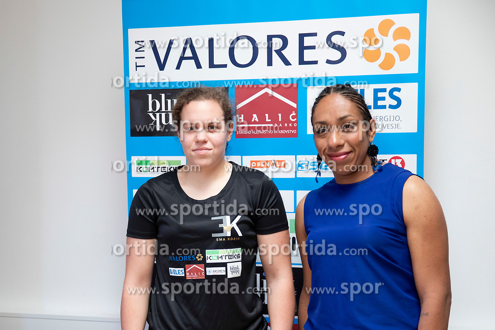 "Ema ""The Princess"" Kozin and Irais Hernandez at press conference before WBC Silver in Zagreb, on September 5, 2018 in Ljubljana, Slovenia. Photo by Urban Urbanc / Sportida"