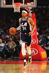 December 30, 2018 - Los Angeles, CA, U.S. - LOS ANGELES, CA - DECEMBER 29: Los Angeles Clippers Forward Tobias Harris (34) brings the ball up the court during a NBA game between the San Antonio Spurs and the Los Angeles Clippers on December 29, 2018 at STAPLES Center in Los Angeles, CA. (Photo by Brian Rothmuller/Icon Sportswire) (Credit Image: © Brian Rothmuller/Icon SMI via ZUMA Press)