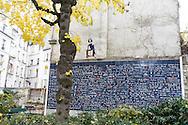 France. Paris. 18th district.  Square de la place des Abbesses montmartre