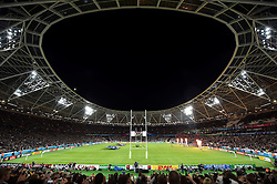A general view of the  Stadium as the teams run out - Mandatory byline: Patrick Khachfe/JMP - 07966 386802 - 24/09/2015 - RUGBY UNION - The Stadium, Queen Elizabeth Olympic Park - London, England - New Zealand v Namibia - Rugby World Cup 2015 Pool C.