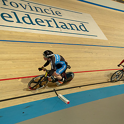 25-11-2018: Wielrennen: NK Baan: Apeldoorn<br />Finale Teamsprint vrouwen Kyra Lamberink en Hetty van der Wouw pakken de titel