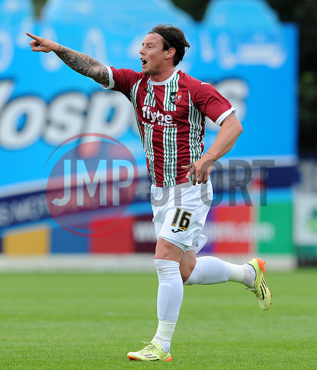 Exeter City's Will Hoskins. - Photo mandatory by-line: Harry Trump/JMP - Mobile: 07966 386802 - 18/07/15 - SPORT - FOOTBALL - Pre Season Fixture - Exeter City v Bournemouth - St James Park, Exeter, England.