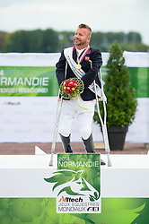 Lee Pearson and Zion World Champion during the Individual Test , (GBR) - Individual Test Grade Ib Para Dressage - Alltech FEI World Equestrian Games™ 2014 - Normandy, France.<br /> © Hippo Foto Team - Jon Stroud <br /> 25/06/14