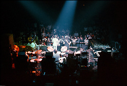 The Grateful Dead perform Live at the  New Haven Coliseum on 5 May 1977. I shot this photo wide. Love that our friends are in the front row. See yourself?? You too Dave? Tammy? you too?