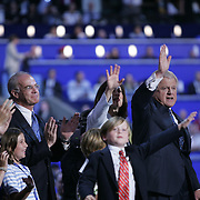 Democratic National Convention.Boston, MA.07/27/2004.Senator Ted Kennedy (D-MA) and family..Photo by Khue Bui.