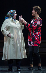 Chronicling Jackie Kay's 20-year search for her biological mother and father and her quest for them to recognise her own existence. <br /> <br /> National Theatre of Scotland's Red Dust Road is adapted from the soul-searching memoir by Jackie Kay, poet, playwright, novelist and Scottish Makar. It's a journey full of heart, humour and profound emotion, exploring race, identity and family secrets, with a deeply human curiosity and compassion.<br /> <br /> Red Dust Road is adapted for the stage by Tanika Gupta, winner of last year's James Tait Black Prize for her drama Lions and Tigers. Completing the creative trio is Dawn Walton, director of the acclaimed salt. by Selina Thompson.<br /> <br /> Red Dust Road is at the Edinburgh International Festival from 14 - 18 August<br /> <br /> Pictured L to R: Elaine C Smith, Sasha Frost