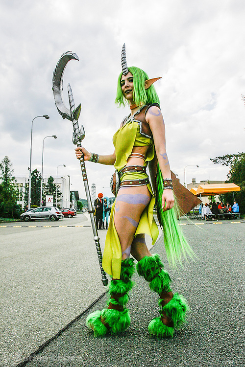 Soraka  from League of legends. Cosplayer at Animefest 2015 in the city of Brno, czech republic.