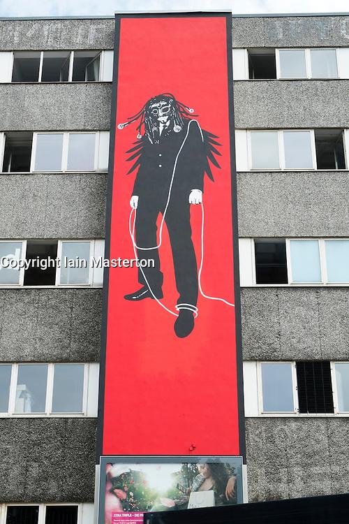in bohemian district of Kreuzberg  in Berlin Germany