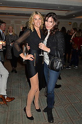 Left to right, ASSIA WEBSTER and RONNI ANCONA at a party hosted by Ewan Venters CEO of Fortnum & Mason to celebrate the launch of The Cook Book by Tom Parker Bowles held at Fortnum & Mason, 181 Piccadilly, London on 18th October 2016.