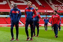 Lloyd Kelly of Bristol City and Mohamed Eisa of Bristol City arrive at the City Ground for the Sky Bet Championship fixture against Nottingham Forest - Mandatory by-line: Robbie Stephenson/JMP - 19/01/2019 - FOOTBALL - The City Ground - Nottingham, England - Nottingham Forest v Bristol City - Sky Bet Championship