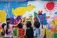 Vietnam Images-children-Trẻ em-SaiGon-Painting-Hochiminh city hoàng thế nhiệm