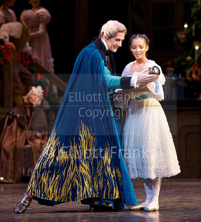 The Nutcracker<br /> <br /> Choreography by Peter Wright after Lev Ivanov<br /> Music by Tchaikovsky<br /> <br /> The Royal Ballet at the Royal Opera House, Covent Garden, London, Great Britain <br /> <br /> Pre-General Rehearsal <br /> <br /> 7 December 2015 <br /> <br /> <br /> Francesca Hayward as Clara  <br /> <br /> <br /> Gary Avis as Drosslemeyer  <br /> <br /> <br /> <br /> <br /> Photograph by Elliott Franks <br /> Image licensed to Elliott Franks Photography Services
