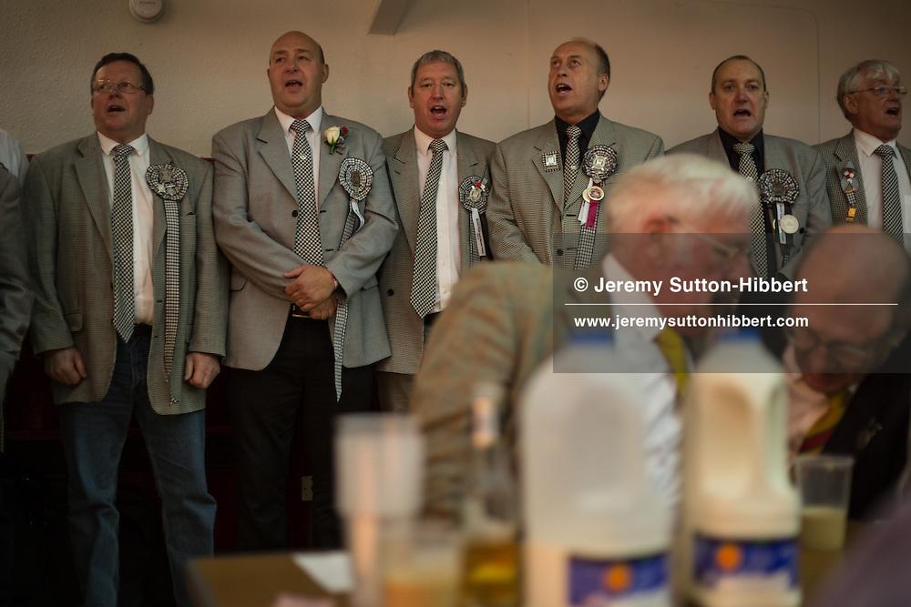 The Braw Lads Breakfast, at Volunteer Hall, during the Gala Braw Lads Gathering, with Braw Lad Daniel Whitehead, in Galashiels, Scotland, Saturday 29th June 2013.<br /> N55&deg;36.910'<br /> W2&deg;48.469'
