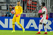 Flamengo goalkeeper Diego Alves (1) in action during a Florida Cup match at Orlando City Stadium on Jan. 10, 2019 in Orlando, Florida. <br /> Flamengo won in penalties 4-3.<br /> <br /> ©2019 Scott A. Miller