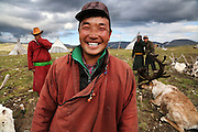Stunning images reindeer herders of Mongolia<br /> <br /> Tsaatan people are reindeer herders and live in northern Kh&ouml;vsg&ouml;l Aimag of Mongolia. Originally from across the border in what is now Tuva Republic of Russia,the Tsaatan are one of the last groups of nomadic reindeer herders in the world. They survived for thousands of years inhabiting the remotest Ulaan ta&iuml;ga, moving between 5 and 10 times a year. <br /> The reindeer and the Tsaatan people are dependent on one another. Some Tsaatan say that if the reindeer disappear, so too will their culture. The Tsaatan depend on the reindeer for almost, if not all, of their basic needs:  their reindeers provide them with milk, cheese, meat, and transportation. They sew their clothes with reindeer hair, reindeer dung fuels their stoves and antlers are used to make tools. They do not use their animals for meat. This makes their group unique among reindeer-herding communities. As the reindeer populations shrink, only about 40 families continue the tradition today. Their existence is threatened by the dwindling number of their domesticated reindeer. Many have swapped their nomadic life for urban areas. <br /> <br /> Along with a few horses, the reindeer also provide the Tsaatan with transportation. As the ta&iuml;ga is typically hilly and covered with forest, they are not used for pulling sledges or sleighs, but instead for riding and as pack animals. The reindeer carry the Tsaatan for hunting, the collection of firewood, seasonal migrations, visiting relatives and friends, and traveling to other settlements to trade for things like flour and rice. Below, from left to right, you see Bayrsa&iuml;han, Chagtan, Baagii and Nuuru, four young members of the camp we were fortunate enough to meet.<br /> &copy;Pascal MANNAERTS/Exclusivepix Media