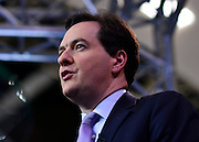 © Licensed to London News Pictures. 03/10/2012. Birmingham, UK Chancellor of the Exchequer gives a television interview on Day 1 at The Conservative Party Conference at the ICC today 7th October 2012. Photo credit : Stephen Simpson/LNP