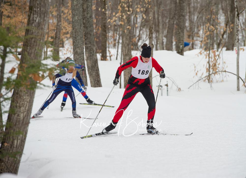 St Paul's School nordic sprint races at Blackwater Ski Area.  ©2017 Karen Bobotas Photographer
