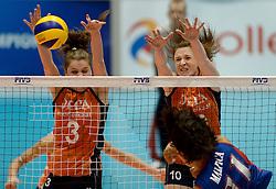08-08-2014 NED: FIVB Grand Prix Nederland - Puerto Rico, Doetinchem<br /> Yvon Belien, Lonneke Sloetjes
