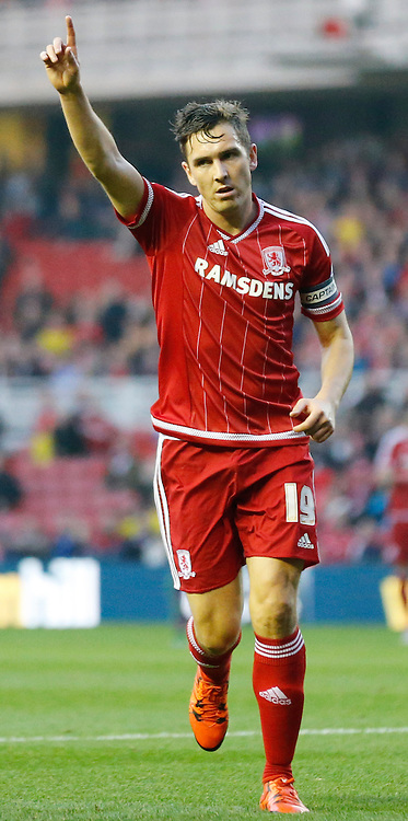 Stewart Downing of Middlesbrough during the Sky Bet Championship match at the Riverside Stadium, Middlesbrough<br /> Picture by Simon Moore/Focus Images Ltd 07807 671782<br /> 31/10/2015