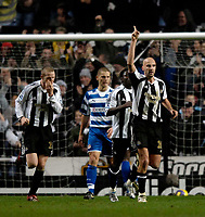 Photo: Jed Wee.<br /> Newcastle United v Reading. The Barclays Premiership. 06/12/2006.<br /> <br /> Newcastle's Antoine Sibierski (R) celebrates after opening the scoring.