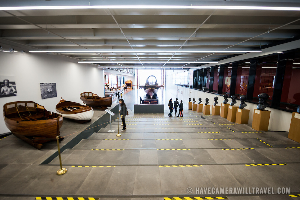 The Istanbul Navy Museum dates back over a century but is now housed in a new purpose-built building on the banks of the Bosphorus. While ostensibly relating to Turkish naval history, the core of its collection consists of 14 imperial caiques, mostly from the 19th century, that are displayed on the main two floors of the museum.