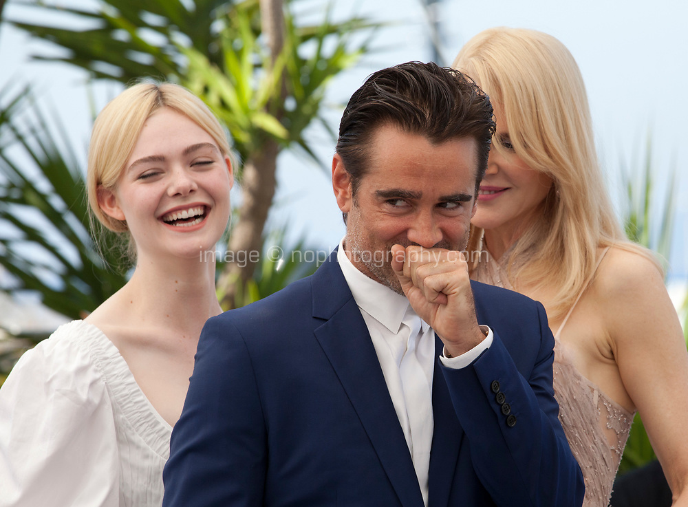 Elle Fanning, Nicole Kidman, Colin Farrell, at the The Beguiled film photo call at the 70th Cannes Film Festival Wednesday 24th May 2017, Cannes, France. Photo credit: Doreen Kennedy