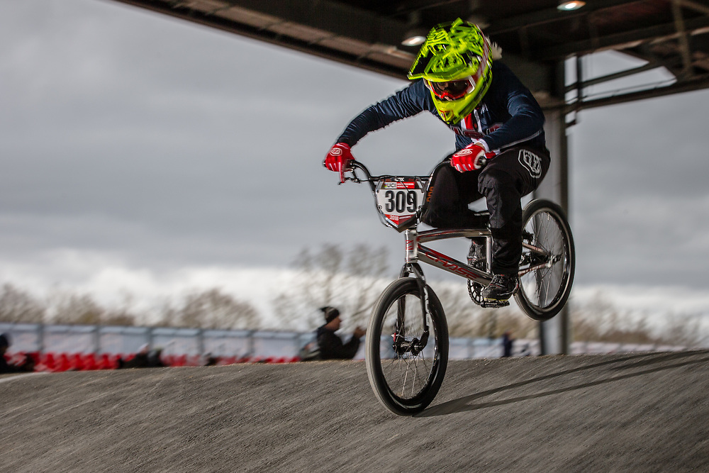 #309 (SHAW Mikalyn) USA at the 2018 UCI BMX Superscross World Cup in Saint-Quentin-En-Yvelines, France.